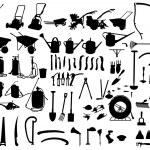 Garden instruments — Stock Vector