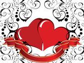 рамка сердце — Cтоковый вектор