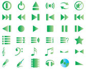 Musical icons set — Stock Vector