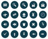 Set van gotische pictogrammen — Stockvector