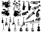 Set of musical instruments — Stockvector