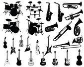 Set van muziekinstrumenten — Stockvector