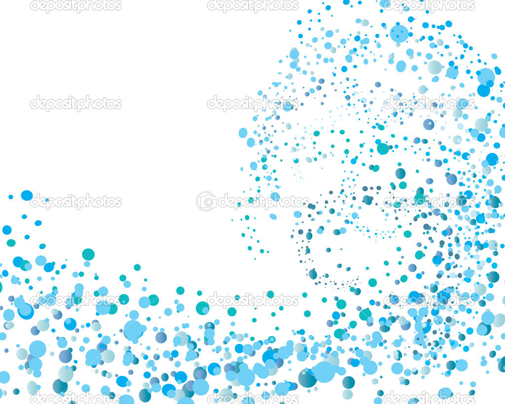 Abstract water vector background with bubbles of air — Stock Vector #3667780