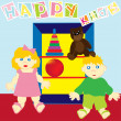 Royalty-Free Stock Obraz wektorowy: Happy kids