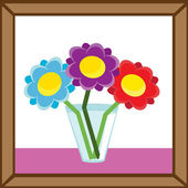 Vase and flowers — Vector de stock