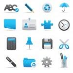 Office Icons | Indigo series 01 — Stock Vector #3391664