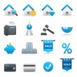 Royalty-Free Stock Immagine Vettoriale: Real State Icons | Indigo Serie 01