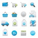 Shopping Icons   Indigo Serie 01 — Stock Vector