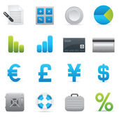 Finance Icons | Indigo Series 01 — Vettoriale Stock