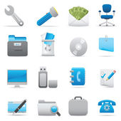 Office Icons | Indigo series 03 — Wektor stockowy
