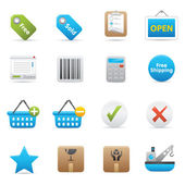 Shopping Icons | Indigo Serie 02 — Vector de stock