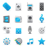 Entertainment Icons | Indigo Serie 03 — Vector de stock