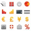 Finance Icons | Red Series 01 — Stock Vector