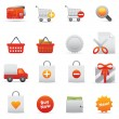 Shopping Icons | Red Serie 01 — Stock Vector