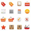 Shopping Icons | Red Serie 02 - Stock Vector