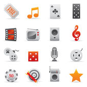 Entertainment Icons | Red Serie 03 — Vector de stock