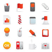 Office Icons | Red Series 02 — Wektor stockowy