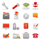 Office Icons | Red series 03 — Vettoriale Stock