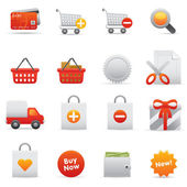 Shopping Icons | Red Serie 01 — Wektor stockowy