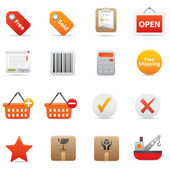 Shopping Icons | Red Serie 02 — Stock Vector