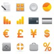 Finance Icons Set | Yellow Serie 01 — Stock Vector