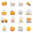 Shopping Icons Set | Yellow Serie 01 — Stok Vektör