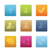 Square Chat Media Icons — Stock Vector