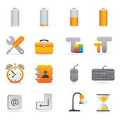 Computer Icons Set | Yellow Serie 01 — Vettoriale Stock