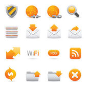 Website & Internet Icons Set | Yellow Serie 03 — Wektor stockowy
