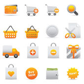 Shopping Icons Set | Yellow Serie 01 — Stock Vector