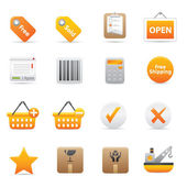 Shopping Icons Set | Yellow Serie 02 — Vector de stock