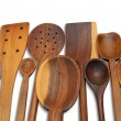 29 Wooden Spoons — Stock Photo