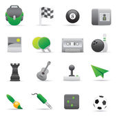 Entertainment Icons | Green 02 — Vettoriale Stock