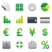 Finance Icons | Green 04 — Stock Vector