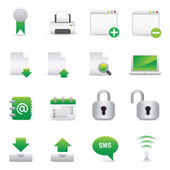 Internet Icons | Green 06 — Vettoriale Stock