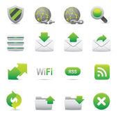Los iconos de Internet | 07 verde — Vector de stock