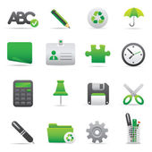 Office Icons | Green 09 — Stock Vector