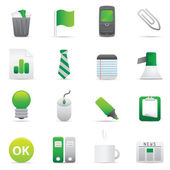 Office Icons | Green 10 — Vettoriale Stock