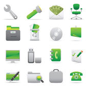 Office Icons | Green 11 — Vettoriale Stock