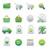 Shopping Icons | Green 13 — Vettoriale Stock
