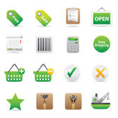 Shopping Icons | Green 14 — Stock Vector