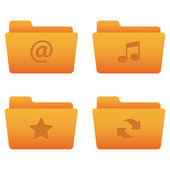 Internet Icons | Orange Folders 01 — Vector de stock
