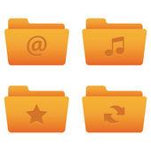 Internet Icons   Orange Folders 01 — Stock Vector