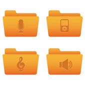 Internet Icons | Orange Folders 05 — Vector de stock