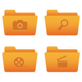 Internet Icons | Orange Folders 06 — Vettoriale Stock