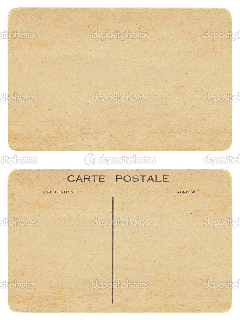 Front and back of antique blank postcard  — Stock Photo #3908751