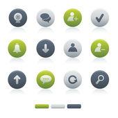01 Circle Mixed Chat Media Icons — Stock Vector