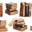 Old books on white background — Stock Photo
