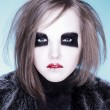 Female with dark makeup — Stock Photo