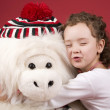 Little girl with her toy — Stock Photo #3404454